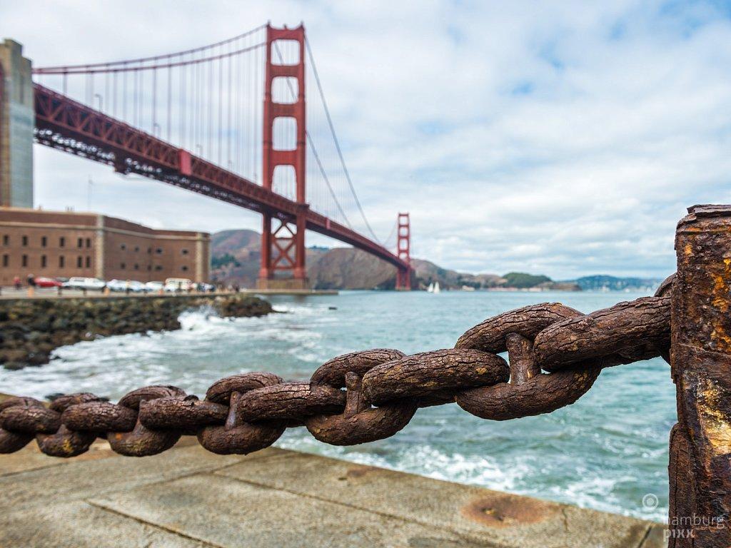 An der Golden Gate Bridge